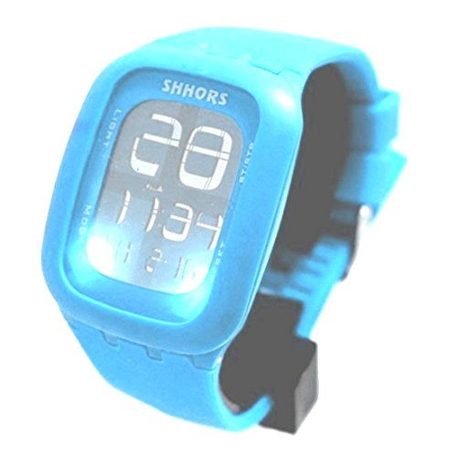 ukdw410j hellblau Watchcase Alarm Hintergrundbeleuchtung Unisex elegant Touch Digitale Armbanduhr