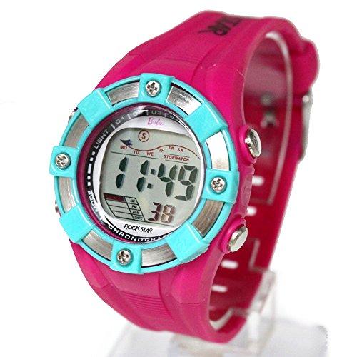 ukdw442 C Chronograph PNP matt silber Luenette Wasser widerstehen Damen Frauen Digitale Armbanduhr