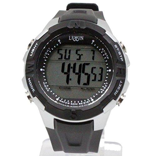 ukdw451 a schwarz Watchcase Datum Hintergrundbeleuchtung Schwarz Luenette Wasser widerstehen Herren Digitale Armbanduhr