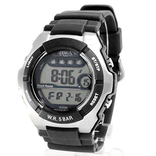 ukdw453b schwarz Watchcase Datum Hintergrundbeleuchtung Schwarz Luenette Wasser widerstehen Herren Digitale Armbanduhr