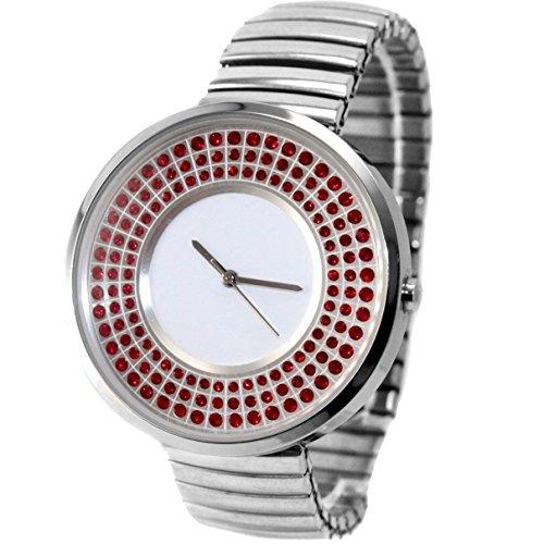 ukfw458 K Wasser widerstehen Damen Frauen glitzernden Kristall Expansion Band Fashion Armbanduhr