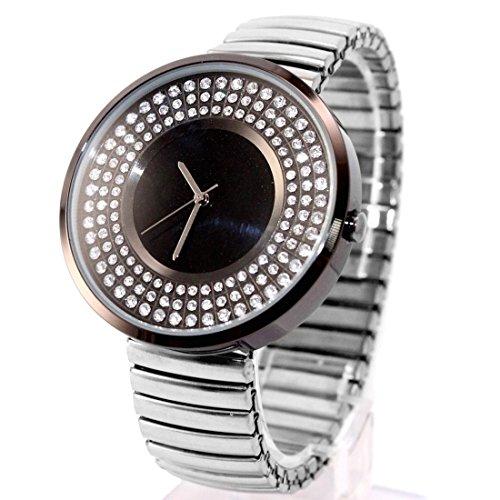 ukfw458j Wasser widerstehen Damen Frauen glitzernden Kristall Expansion Band Fashion Armbanduhr
