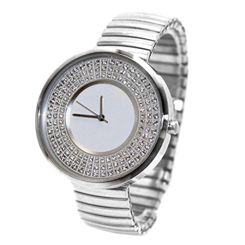 ukfw458l Wasser widerstehen Damen Frauen glitzernden Kristall Expansion Band Fashion Armbanduhr