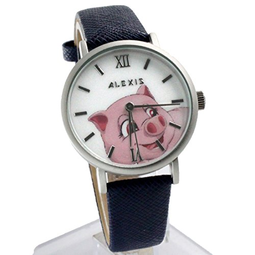 ukfw967d dunkelblau Band PNP matt silber Watchcase Wasser widerstehen Frauen Fashion Armbanduhr