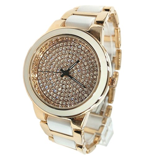 ukfw971 a Rose Gold Ton Zifferblatt Rose Gold Ton Band Keramik Damen Uhr Fashion Armbanduhr