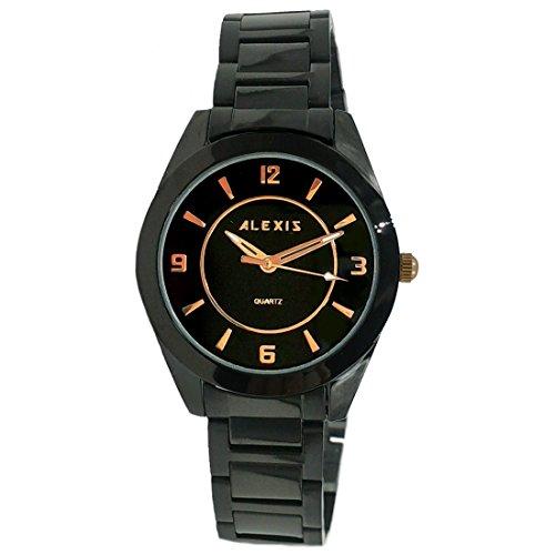 Schwarz ukfw972 a Band Schwarz Rund Watchcase Wasser widerstehen 2035 Bewegung Fashion Armbanduhr