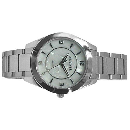 ukfw972b weiss Zifferblatt PNP glaenzend Silber Watchcase Herren Frauen 2035 Quarz Fashion Watch