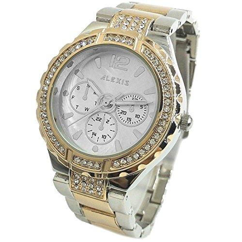 Neue Runde Wasser Resist Silber Zifferblatt Damen Damen Armbanduhr