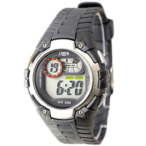 10dw325h grau Watchcase Chronograph Alarm Hintergrundbeleuchtung Wasser widerstehen Herren Damen