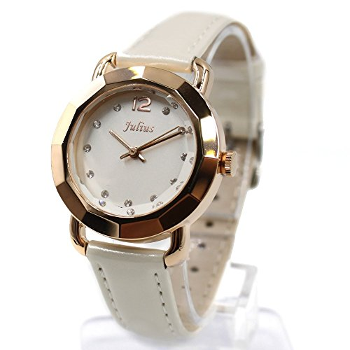 Weiss Dial Weiss Band Rose Gold Ton Uhrgehaeuse Dame Frauen Mode Uhr