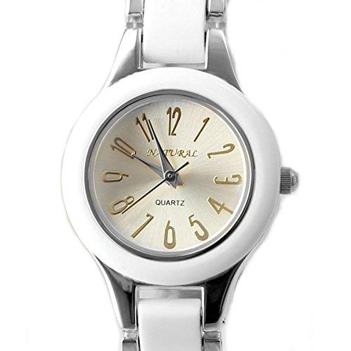 Zifferblatt Neue NATURAL PNP glaenzende silberne Uhrgehaeuse Silber