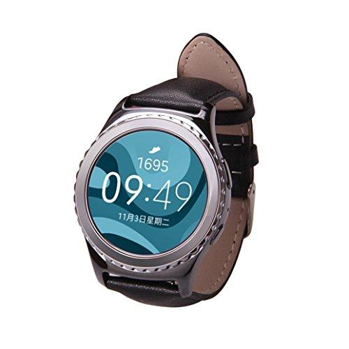 Amlaiworld Echte PU Leder Band Armband fuer Samsung Galaxy Gear S2 klassische R732