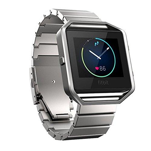 Amlaiworld Edelstahl Armband Buegel Uhrenarmband fuer Fitbit Blaze Smart Eignung Uhr