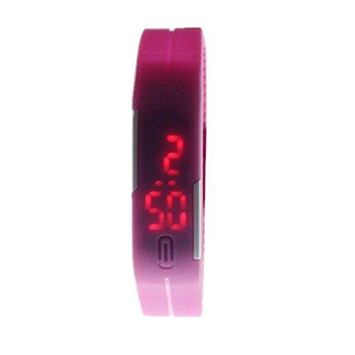 Amlaiworld Sport Silikon Digital LED Sport Armband Armbanduhr