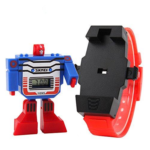 ALPS Kids LED Digital Kinder Armbanduhr Cartoon Sport Uhren Roboter Transformation Toys Jungen Armbanduhr