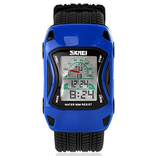 ALPS Kids LED Digital Auto Sport wasserdicht Uhren blau