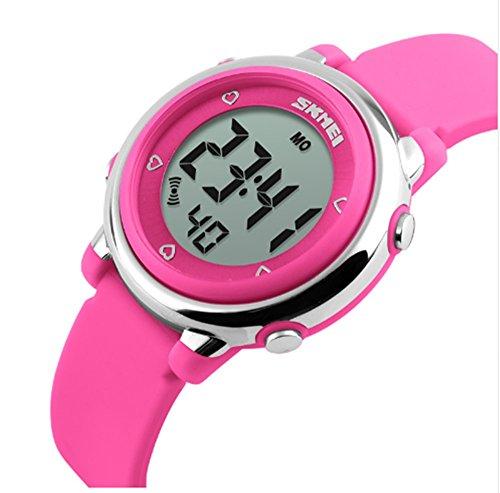 ALPS Kids Multi Funktion Digital LED Wasser resistantsport Armbanduhr Rose
