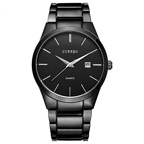 alpen Herren Luxus Business Style Edelstahl Chronograph Armbanduhr mit Link Armband