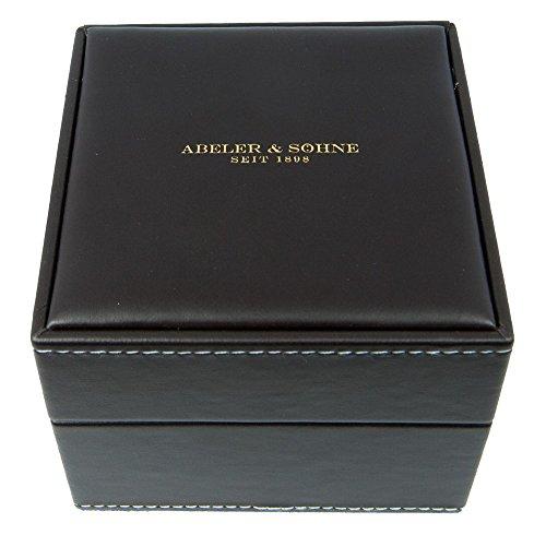 Edle Uhrenbox aus Kunstleder braun Uhrenschatulle Abeler Soehne 28262