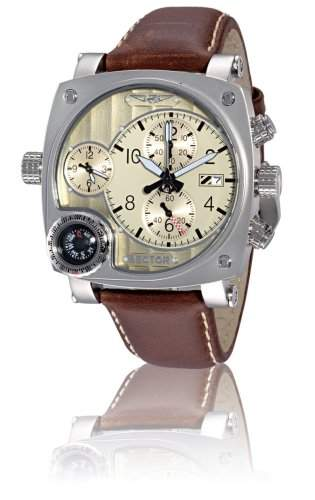 Sector Herren-Armbanduhr Chronograph Quarz Leder R3251907045