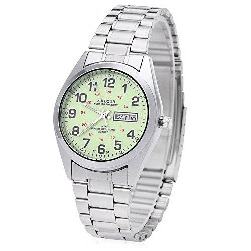 Leopard Shop Begeisterung 1754 Herren Datum Tag Display Luminous 5 ATM Armbanduhr 5