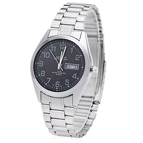 Leopard Shop Begeisterung 1754 Herren Datum Tag Display Luminous 5 ATM Armbanduhr 6