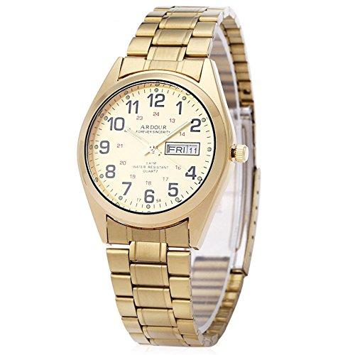Leopard Shop Begeisterung 1754 Herren Datum Tag Display Luminous 5 ATM Armbanduhr 1
