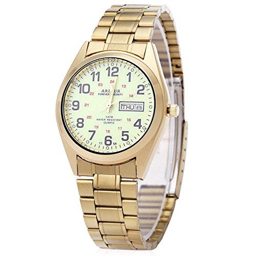Leopard Shop Begeisterung 1754 Herren Datum Tag Display Luminous 5 ATM Armbanduhr 2