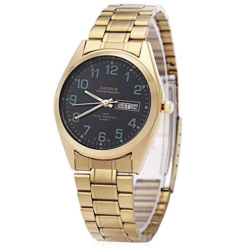 Leopard Shop Begeisterung 1754 Herren Datum Tag Display Luminous 5 ATM Armbanduhr 3