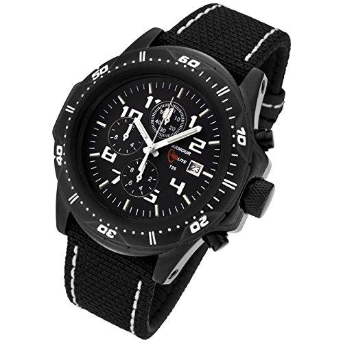 Armourlite AL43 KBW Chronograph Watch Black Green Kevlar White