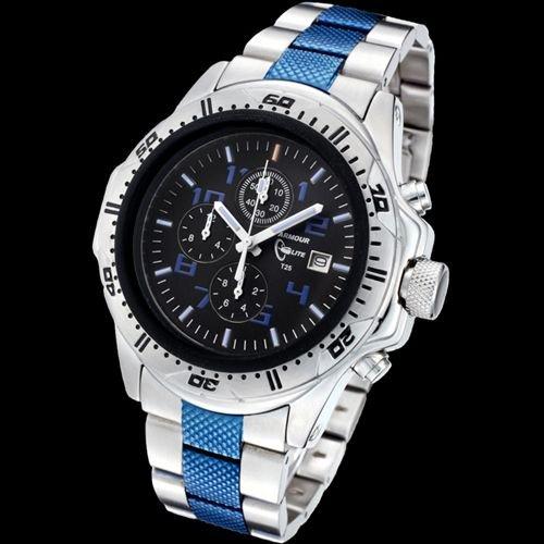 Armourlite AL77 Chronograph Watch Silver Blue Steel