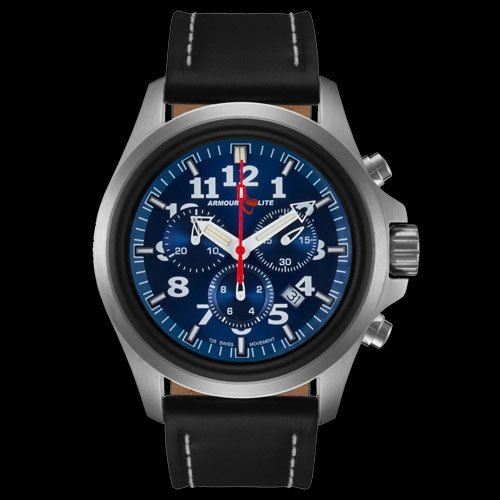 Armourlite AL804 Chronograph Watch Blue Blue Leather
