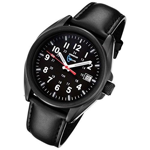 Armourlite Captain Field AL501 BBL Watch Black Blue Leather