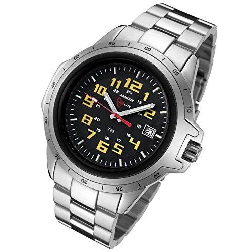 Armourlite ColorBurst Scratch Resistant Glass Yellow Tritium Watch AL214