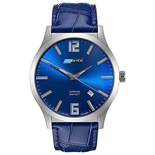ArmourLite iso903 Herren Grand Slimline Series blau Leder Band Blau Zifferblatt Armbanduhr