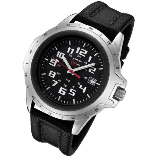 Armourlite Shatterproof AL205 Silver White Watch Leather