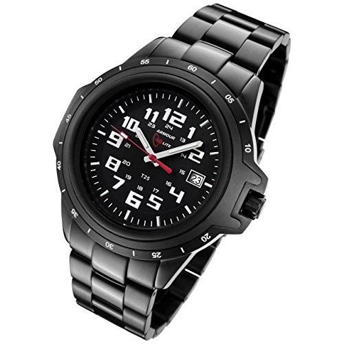 Armourlite Shatterproof AL220 Watch Black White Steel