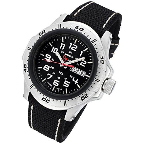 Armourlite Pro Shatterproof AL47 KBW Watch Silver Green Kevlar