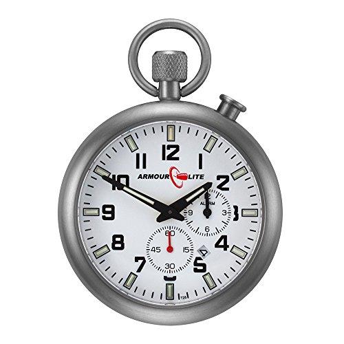 ArmourLite AKPW01 Taschen Uhr T25 Schweizer Tritium Indizes 46 mm Stahlgehaeuse Saphierglas