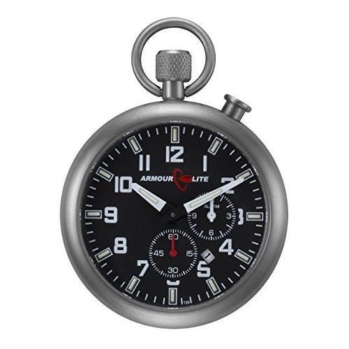 ArmourLite AKPW02 Taschen Uhr T25 Schweizer Tritium Indizes 46 mm Stahlgehaeuse Saphierglas