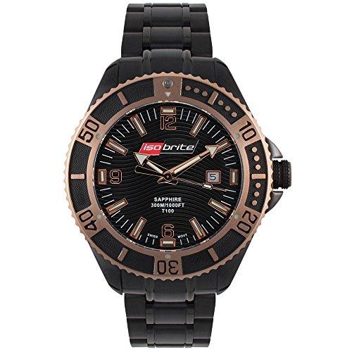 isobrite schwarz Edelstahl Master Diver Serie Armbanduhr iso502