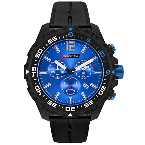 Isobrite Valor Series Chronograph T100 Blue Dial Tritium Watch