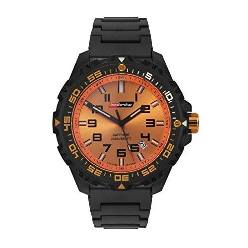 Isobrite Valor ISO312 Black Orange Watch Polyurethane