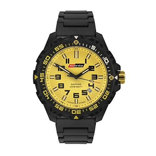 Isobrite Valor ISO313 Black Yellow Watch Polyurethane