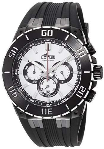Lotus Herren-Armbanduhr Chronograph Quarz Kautschuk 158021