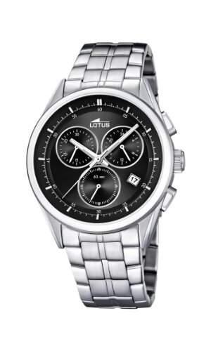 Lotus Herren-Armbanduhr Chronograph Quarz Edelstahl 158478