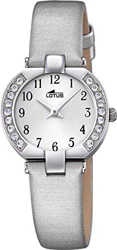 LOTUS Junior Collection Analog Textil Leder Armband silbergrau Chronograph Uhr Ziffernblatt silber UL15129 B