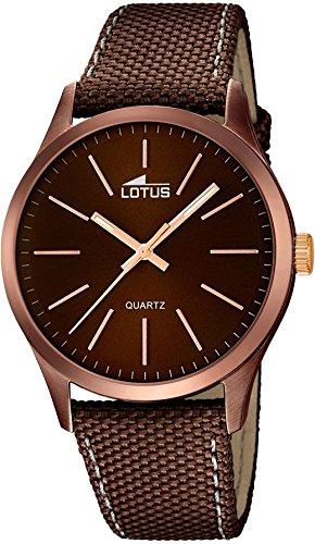 LOTUS Smart Casual Analog Textil Leder Armband braunmetallic Quarz Uhr Ziffernblatt braun UL18246 2