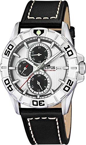 LOTUS Herren Uhr Multifunktion Analog Sport Leder Armband schwarz Quarz Uhr UL15813 5