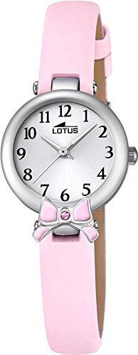LOTUS Jugend Uhr Junior Collection Analog Leder Armband rosa Chronograph Uhr Ziffernblatt silber UL18265 2